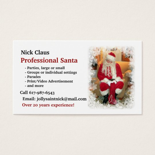 Business Card: Professional Santa Business Card
