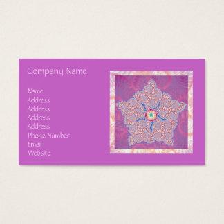 Business Card - Purple Star Fractal Pattern