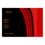 Business Card Red Modern Black Business Card Templates