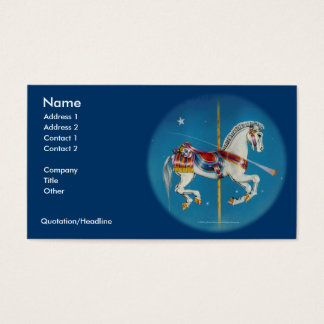 Business Card - Red, White & Blue Carousel Horse