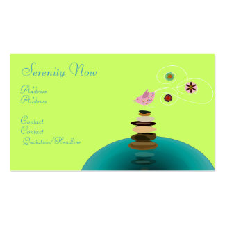 Business card, Serenity Now