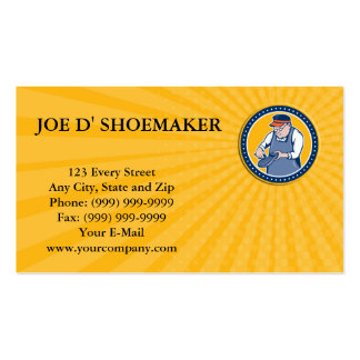 Business card Shoemaker Cobbler Circle Cartoon