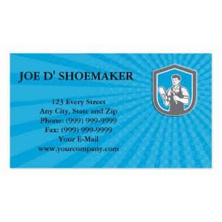 Business card Shoemaker Cobbler Shoe Repair Shield