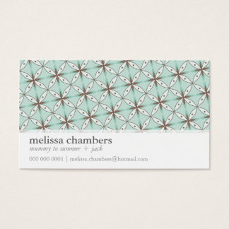 BUSINESS CARD simple funky pattern