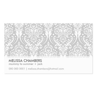 BUSINESS CARD simple modern damask