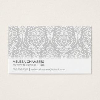 BUSINESS CARD simple modern damask