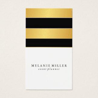 Business Card - Simplistic Foil Stripes
