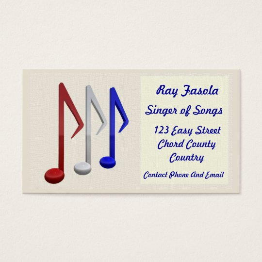 Business Card - Singer