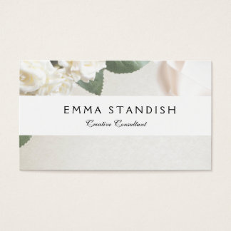 Business Card Soft White Rose Template
