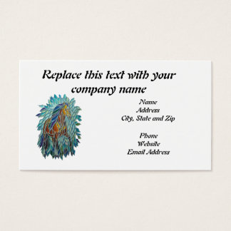 Business Card, Stained Glass Horse Business Card