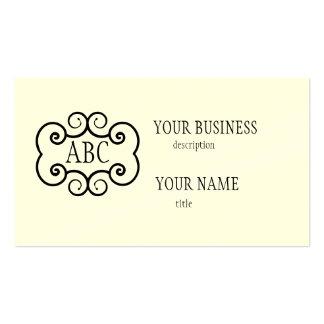 Business Card Std Paper Cream Monogram