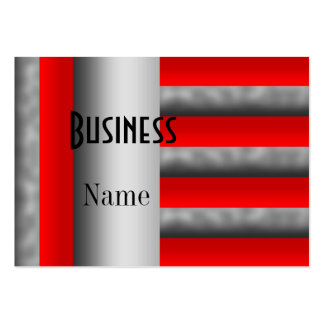 Business Card Stripe Red Silver 2