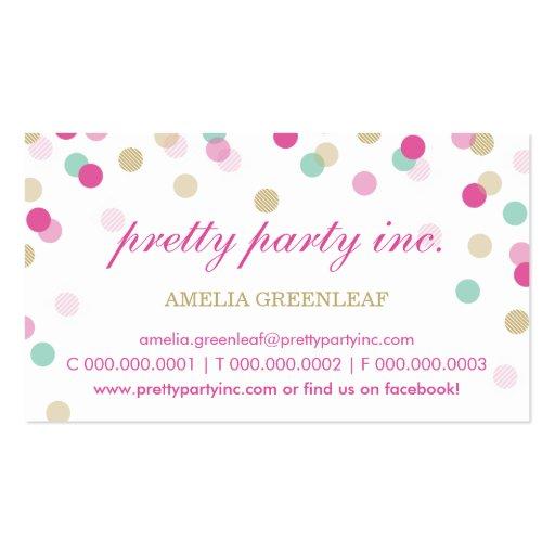 BUSINESS CARD :: stylish confetti pink + gold