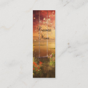 Fantasy butterfly business cards business card printing zazzle uk business card swing fireflies woodlands skinny reheart Images