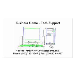 Business Card: Tech Support Pack Of Standard Business Cards