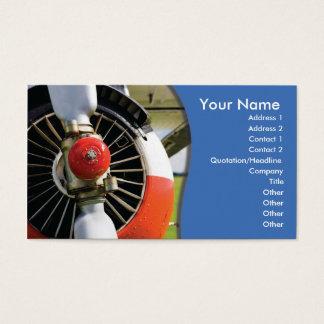 business card template aviation