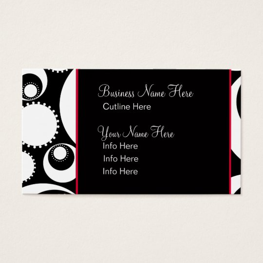 Business Card Template **Bold B&W Circles
