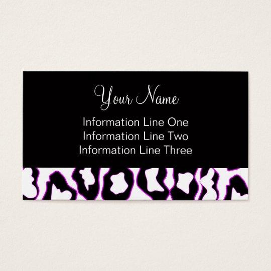 Business Card Template **Bold Leopard Print