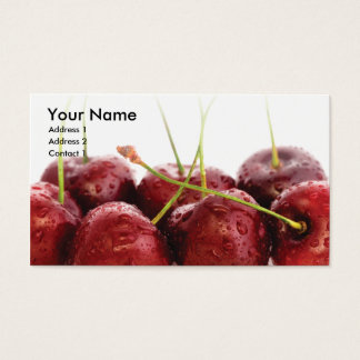 business card template cherries