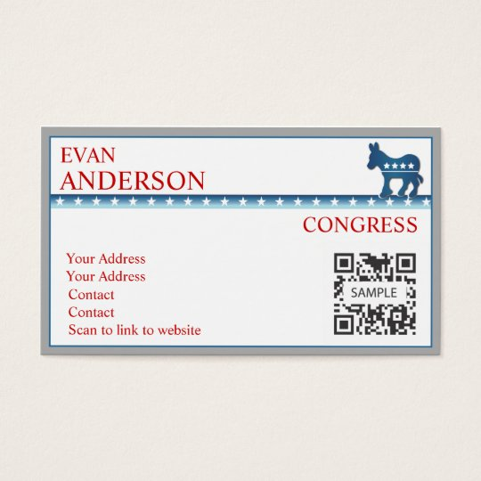 Business Card Template Democratic Donkey