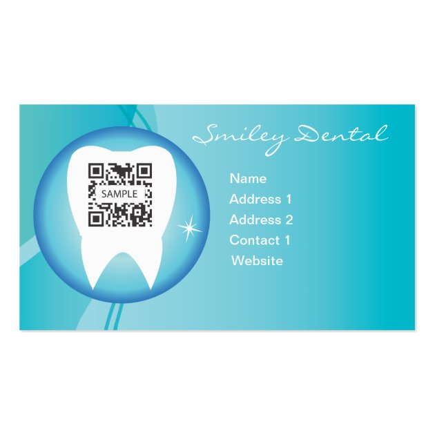 business card template dental care