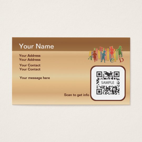 Business Card Template Elementary Education