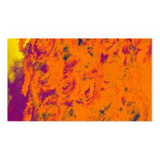 Business Card Template Floral Design-Orange Business Cards
