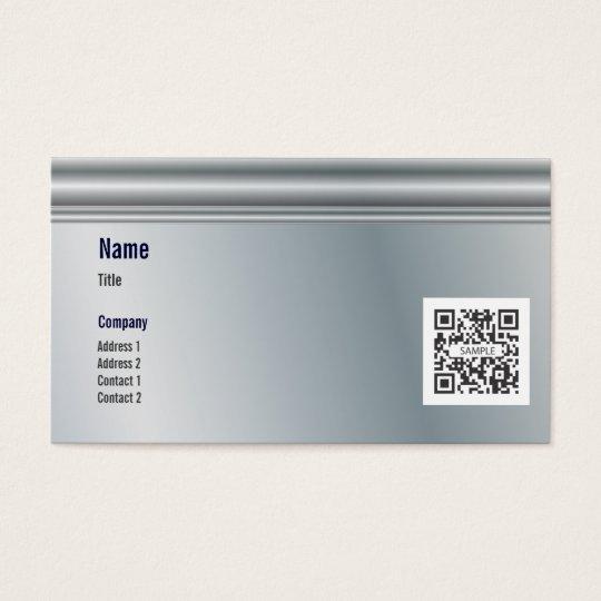 Business Card Template Generic Metal