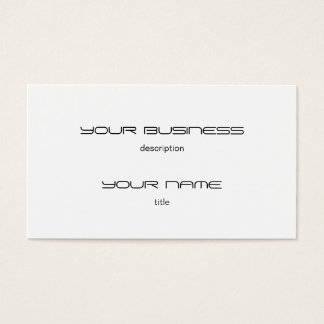 Business Card Template Premium Eggshell