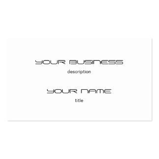 Business Card Template Premium Heavy White