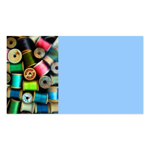 business card template spools of thread photo