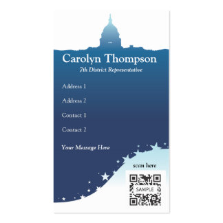 Business Card Template US National Monuments