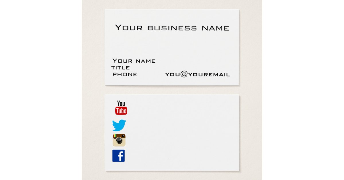 Business card template with social media icons 28 images social business card template with social media icons by business card template with social media icons 2 reheart Image collections