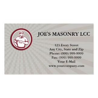 Business card Tiler Plasterer Mason Masonry Worker