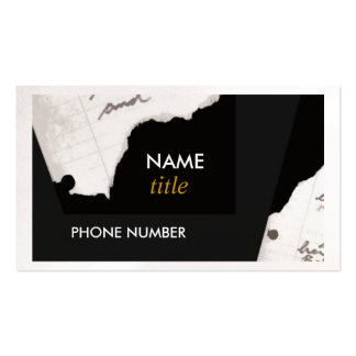 Business Card-Torn Edges Pack Of Standard Business Cards