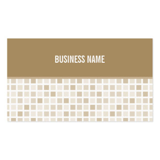 BUSINESS CARD trendy modern tiles gold