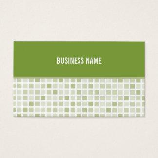 BUSINESS CARD trendy modern tiles green