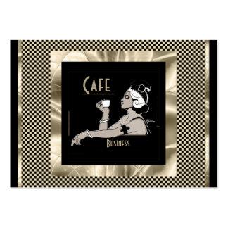 Business Card Vintage Art Deco Cafe Business Business Card Templates
