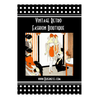 Business Card Vintage Retro Fashion Boutique