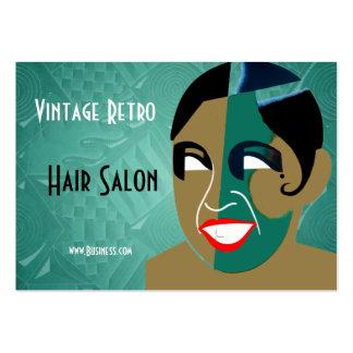 Business Card Vintage Retro Hair Salon Business Cards