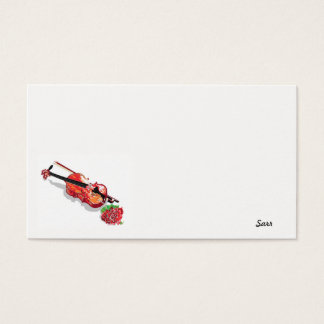Business Card / Violin with a Rose