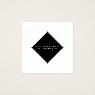 Business Card - White Black Modern