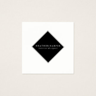 Business Card - White Black Modern