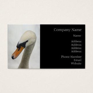 Business Card - White Macro Swan