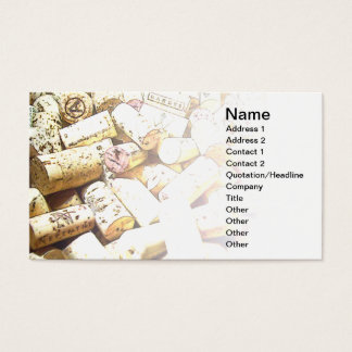 business card with corks abstract