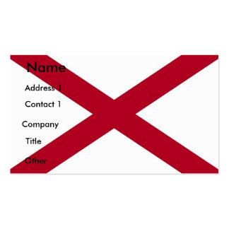 Business Card with Flag of Alabama U S A