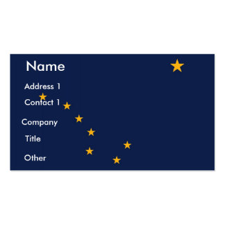 Business Card with Flag of Alaska U S A