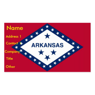 Business Card with Flag of Arkansas U S A