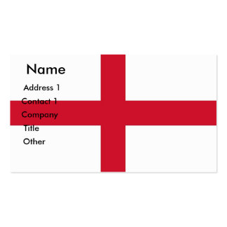 Business Card with Flag of England