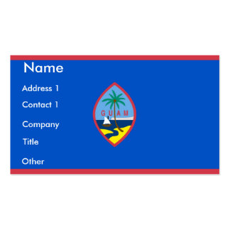 Business Card with Flag of Guam U S A